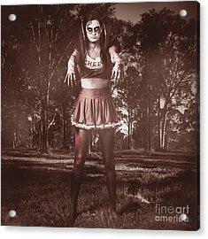 Walking Dead Schoolgirl Stumbling Back To School Acrylic Print by Jorgo Photography - Wall Art Gallery