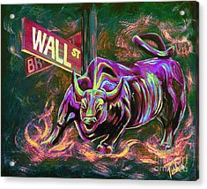 Wall Street Acrylic Print by Teshia Art