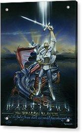 Warriors Dragon Slayer Acrylic Print by Cliff Hawley