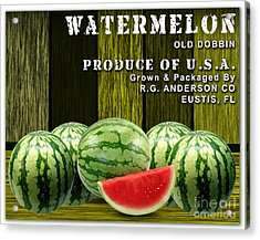 Watermelon Farm Acrylic Print by Marvin Blaine