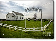West Liberty Cemetery In Montezuma Iowa Acrylic Print by Gregory Dyer