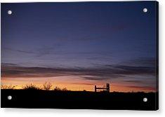 West Texas Sunset Acrylic Print by Melany Sarafis