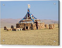 Western Mongolia Acrylic Print by Emily Wilson