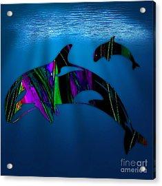 Whales Acrylic Print by Marvin Blaine
