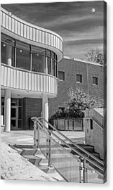 Wheaton Public Library Black And White Acrylic Print by Christopher Arndt