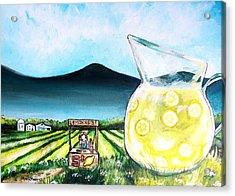 When Life Gives You Lemons Acrylic Print by Shana Rowe Jackson