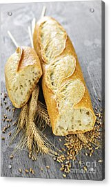 White Baguette Acrylic Print by Elena Elisseeva