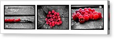 Wild Strawberries On Straw Acrylic Print by Toppart Sweden
