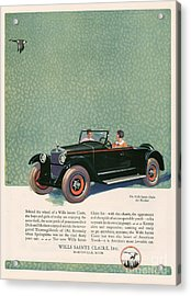 Wills Sainte Claire 1925 1920s Usa Cc Acrylic Print by The Advertising Archives