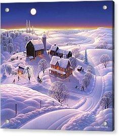 Winter On The Farm Acrylic Print by Robin Moline