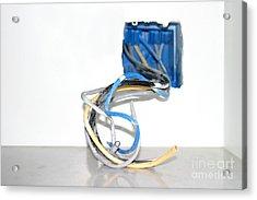Wire Box Acrylic Print by Henrik Lehnerer