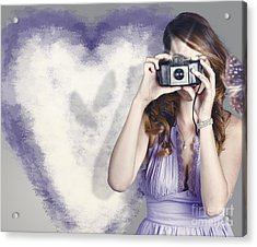 Woman With Camera. Love In A Still Frame Capture Acrylic Print by Jorgo Photography - Wall Art Gallery