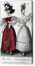 Women's Fashion, 1829 Acrylic Print by Granger