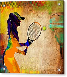 Womens Tennis Acrylic Print by Marvin Blaine