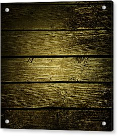 Wooden Planks Acrylic Print by Les Cunliffe