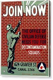 World War II Poster, C1943 Acrylic Print by Granger