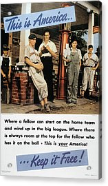 Wwii: Us Poster, 1942 Acrylic Print by Granger