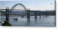 Yaquina Bay Bridge - Newport Oregon Acrylic Print by Daniel Hagerman