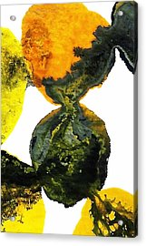 Yellow And Gray Interactions 8 Acrylic Print by Amy Vangsgard