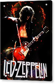 Zeppelin Acrylic Print by FHT Designs