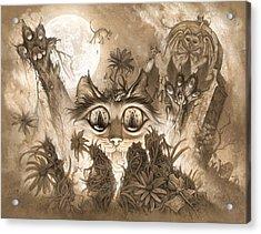 Zombie Cats Acrylic Print by Jeff Haynie