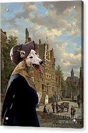 Greyhound Art Canvas Print Acrylic Print by Sandra Sij