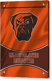 Cleveland Browns Uniform Acrylic Print by Joe Hamilton