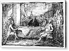 Treaty Of Paris, 1783 Acrylic Print by Granger