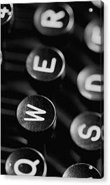 Typewriter Keys Acrylic Print by Falko Follert