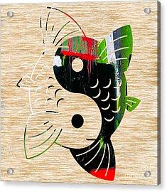 Yin Yang Koi Acrylic Print by Marvin Blaine