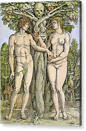 Adam And Eve Acrylic Print by Granger