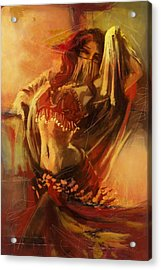 Belly Dancer 10 Acrylic Print by Corporate Art Task Force
