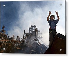 11 September Aftermath Acrylic Print by Us Navy/preston Keres