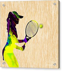 Tennis Acrylic Print by Marvin Blaine