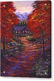 1133 Friendly House Acrylic Print by David Lloyd Glover