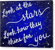 11x14 Look At The Stars Acrylic Print by Michelle Eshleman