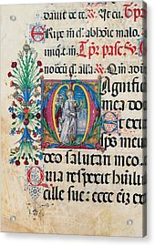 Anonymous Sienese Painter, Psalter Acrylic Print by Everett