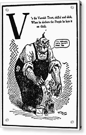 Anti-trust Cartoon, 1902 Acrylic Print by Granger
