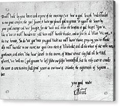 Edward Vi (1537-1553) Acrylic Print by Granger