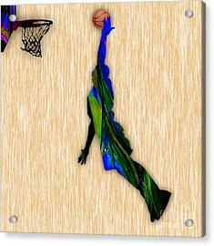 Basketball Acrylic Print by Marvin Blaine