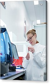 Haematology Laboratory Acrylic Print by Aberration Films Ltd