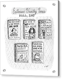 Untitled Acrylic Print by Roz Chast