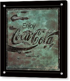 Coca Cola Sign Grungy Retro Style Acrylic Print by John Stephens
