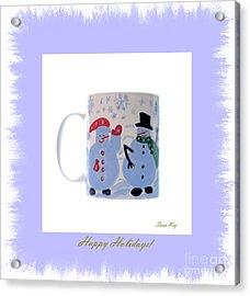 Happy Holidays. Acrylic Print by Oksana Semenchenko