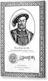 Henry Viii (1491-1547) Acrylic Print by Granger