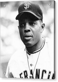 Willie Mays Acrylic Print by Retro Images Archive