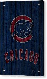 Chicago Cubs Acrylic Print by Joe Hamilton