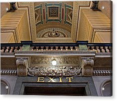 Interior Of St Georges Hall Liverpool Uk Acrylic Print by Ken Biggs