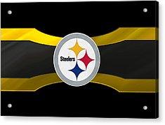 Pittsburgh Steelers Acrylic Print by Joe Hamilton