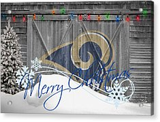 St Louis Rams Acrylic Print by Joe Hamilton